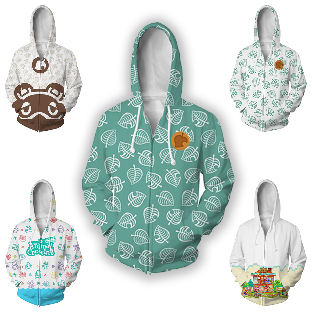 High quality popular game Animal Crossing game hoodie 3D digital printing hooded sweatshirt men and women spring fashion jacket image