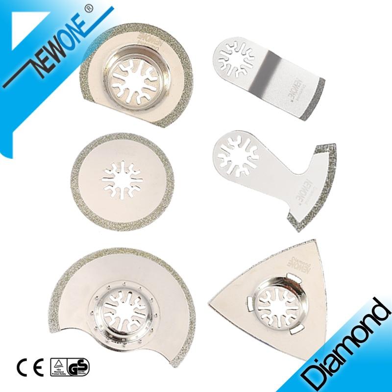 NEWONE Diamond E-cut Circular Oscillating Saw Blades For Triangle Rasp Multitool Tile Prorous Concrete Cement Ceramics In Saw
