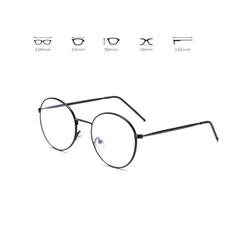 New Anti Blue Light Anti Blocking Filter Glasses Fashion Women Mens Computer Goggles Retro Metal Transparent UV400 Eyewear