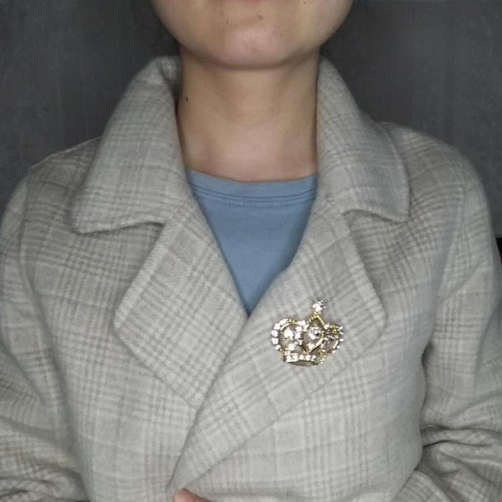 Weibliche Kronenbrosche Simulierte kristallweiße - Modeschmuck - Foto 4