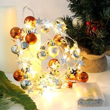 Christmas Holiday LED Lights Merry Christmas Decorations for Home Christmas Tree Decorations Xmas Navidad Gifts New Year 2021 недорого