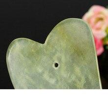 2 pièces Gua Sha Massage du visage Jade rouleau visage cou pierre naturelle soins de santé corps Jade Gua Sha conseil beauté ensemble d'outils X #4