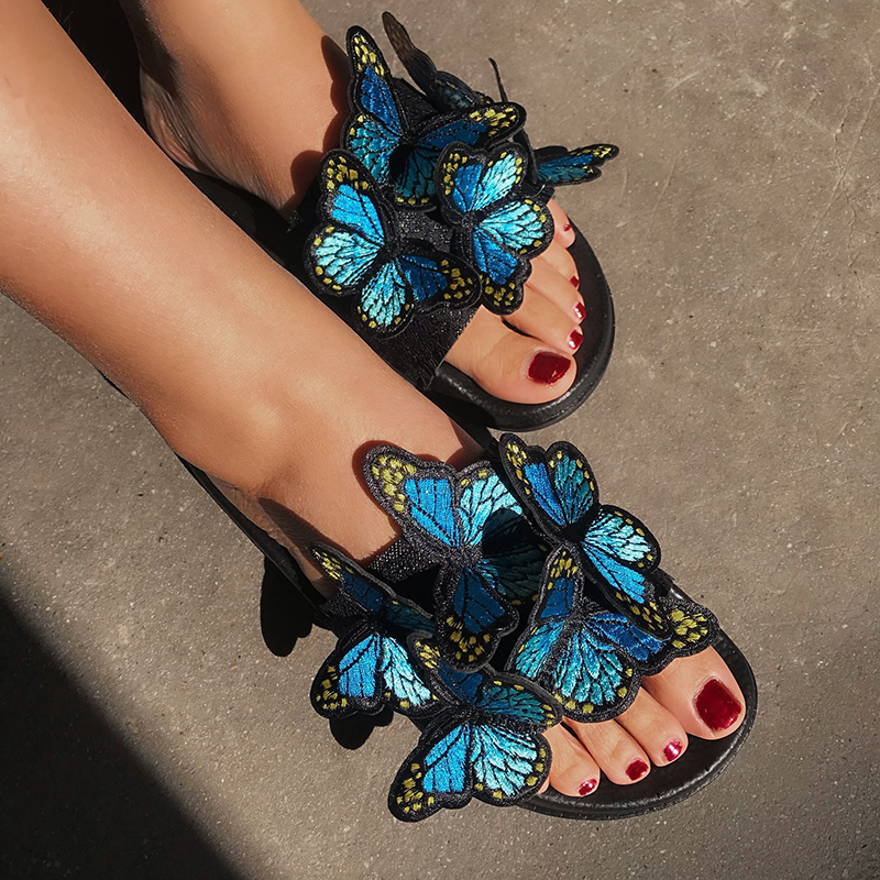 Fashion Women Sandals Open Toe Low Wedges Bohemian Summer Shoes Women Sandals Beach Flat Sandals Zapatos De Mujer Free Shipping