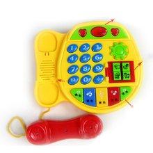 Кнопки телефона шаржа Учя подарка образовательных разведки игрушки для детей развивающие интерактивные