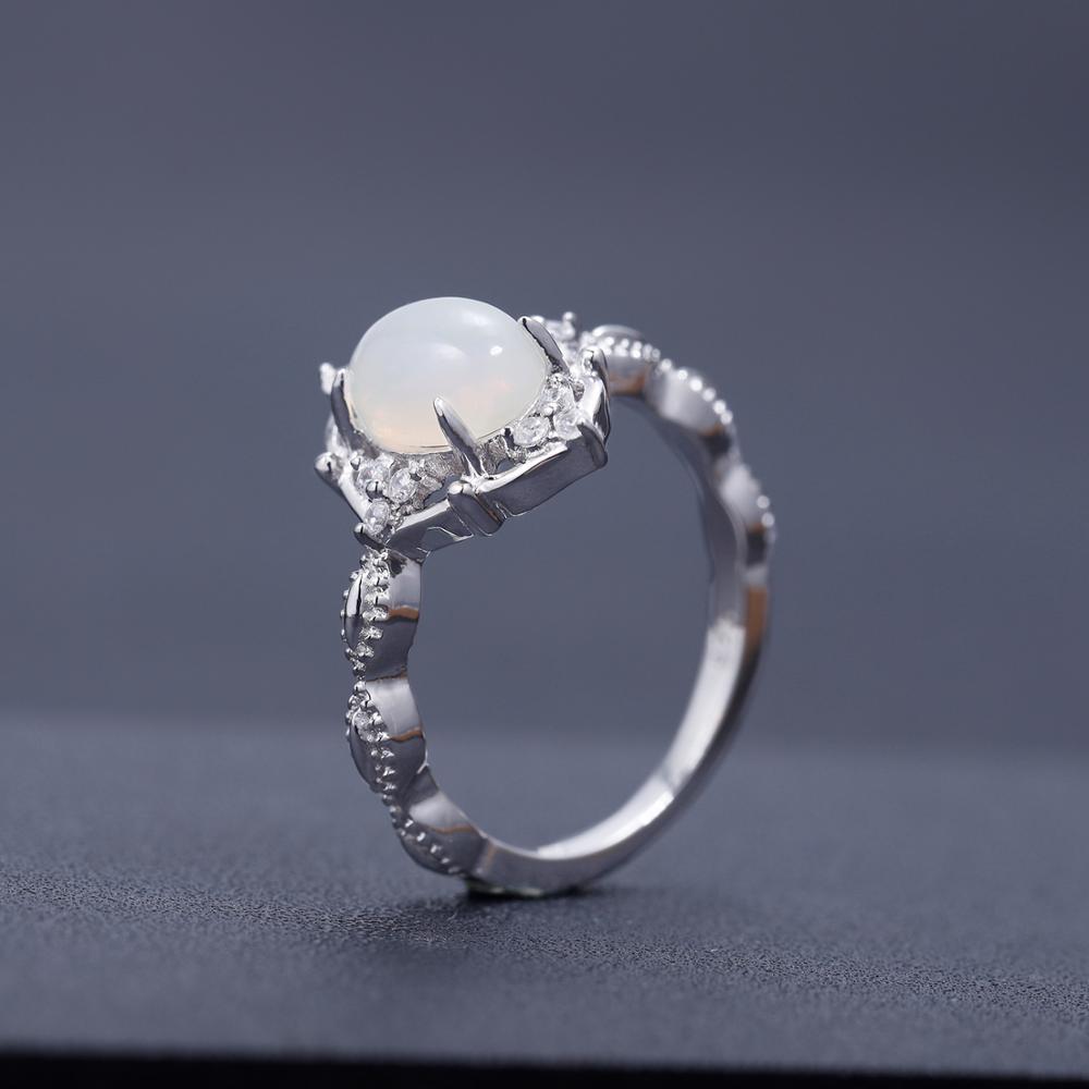 Image 3 - Женское Обручальное Кольцо GEMS BALLET, ювелирное изделие из  натурального африканского опала, серебро 925 пробыКольца   -