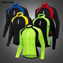 Мужские дышащие светоотражающие велосипедные куртки wosawe велосипедный
