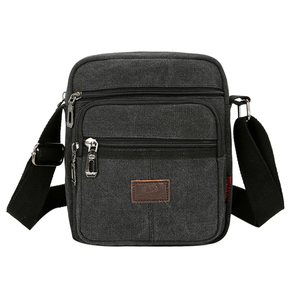 Canvas Crossbody Shoulder Bag For Men Zipper Casual Travel Male Messenger Pack Fashion Design Men's Handbag Bolsos Sac A Main