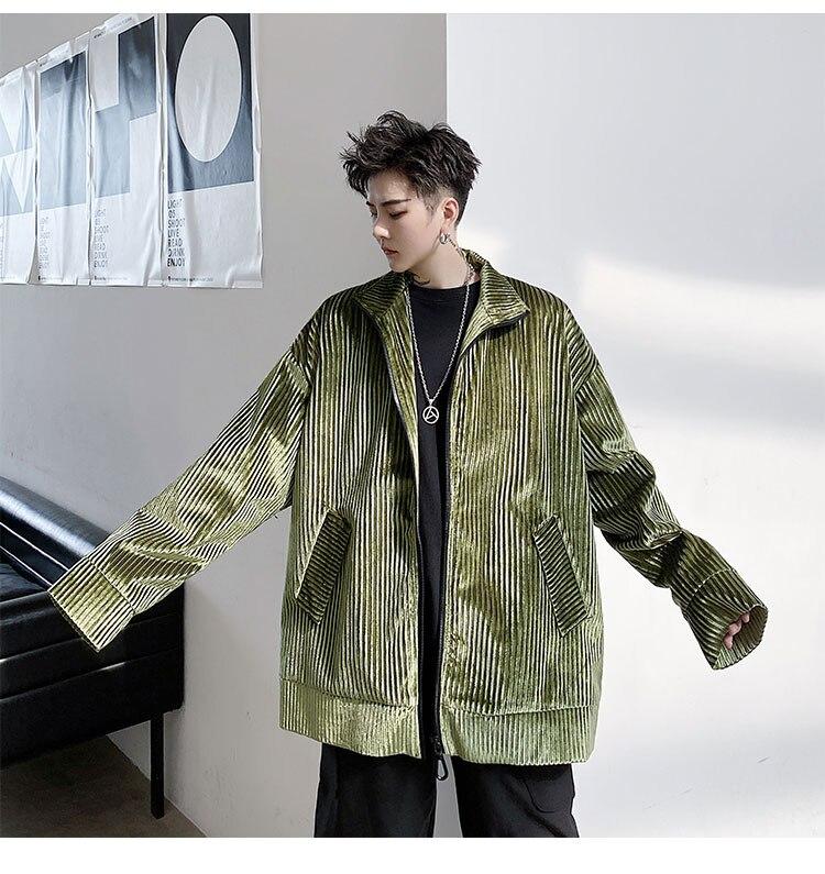 Masculino japonês e coreano jaquetas longas moda