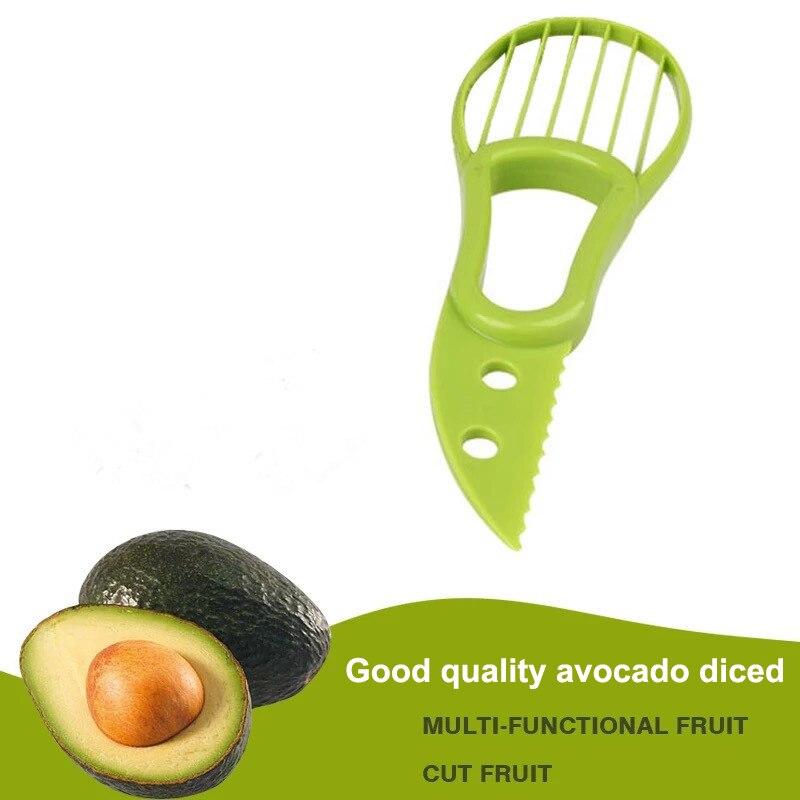 Многофункциональный инструмент для пилинга и нарезки авокадо, для нарезки пластиковых овощей и фруктов, бытовой кухонный инструмент для на...