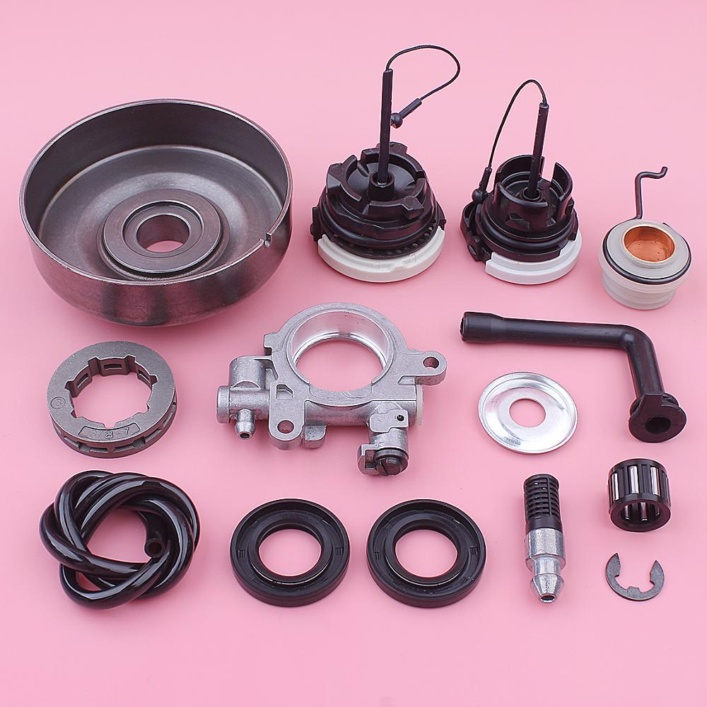 Tools : Clutch Drum w Oil Pump Kit For Stihl MS290 029 MS390 039 MS310 Chainsaw 1125 007 1041 1127 640 3200 Fuel Filter Cap Worm Gear