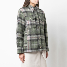 2019 Plaid Hit Color Women Coats and Jackets Trun-down Collar Single Breasted Wide-waisted Style Elegant
