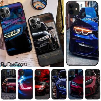 Jomy Blue Red Car for Bmw Phone Case Cover For iphone 5C 5 6 6s plus 7 8 SE 7 8 plus X XR XS MAX 11 Pro Max Cover image