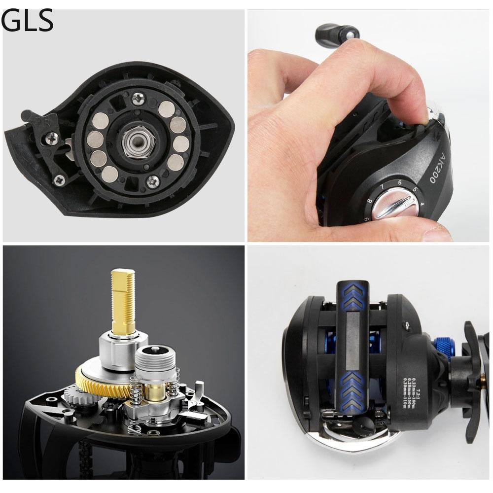 GLS Metal winding ring Series Baitcasting Reel 7.2:1 Ultra-Light  2