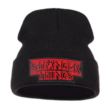 Hot Stuff Story STRANGER THINGS Letter Embroidered Knit Cap Winter Hat Warm Skullie Beanie Hip Hop