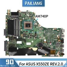 PAILIANG Laptop motherboard For ASUS X550ZE 60NB07A0 REV:2.0 Mainboard Core AM740P DDR3(China)