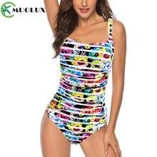 Swimsuit 2019 Sexy One Piece Bikini Plus Size Swimwear Women Print Bathing Suit Monokini Beach Wear Tummy control Swim Suit XXL все цены