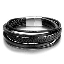 Bracelet Bangles Jewelry Accessories Charm Stainless-Steel Magnetic Black Men Fashion