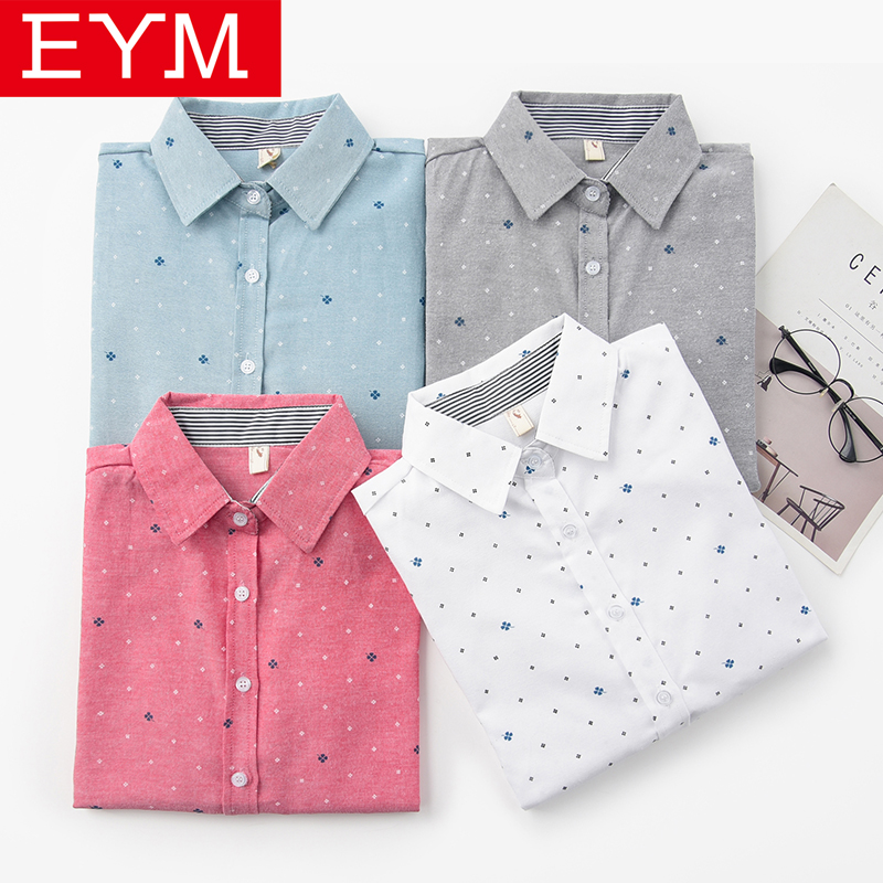 EYM Brand Woman Blouse 2020 Spring New Casual Print Long Sleeve Shirt Women Fresh College Style Blouses Tops Lady Clothes Blusas