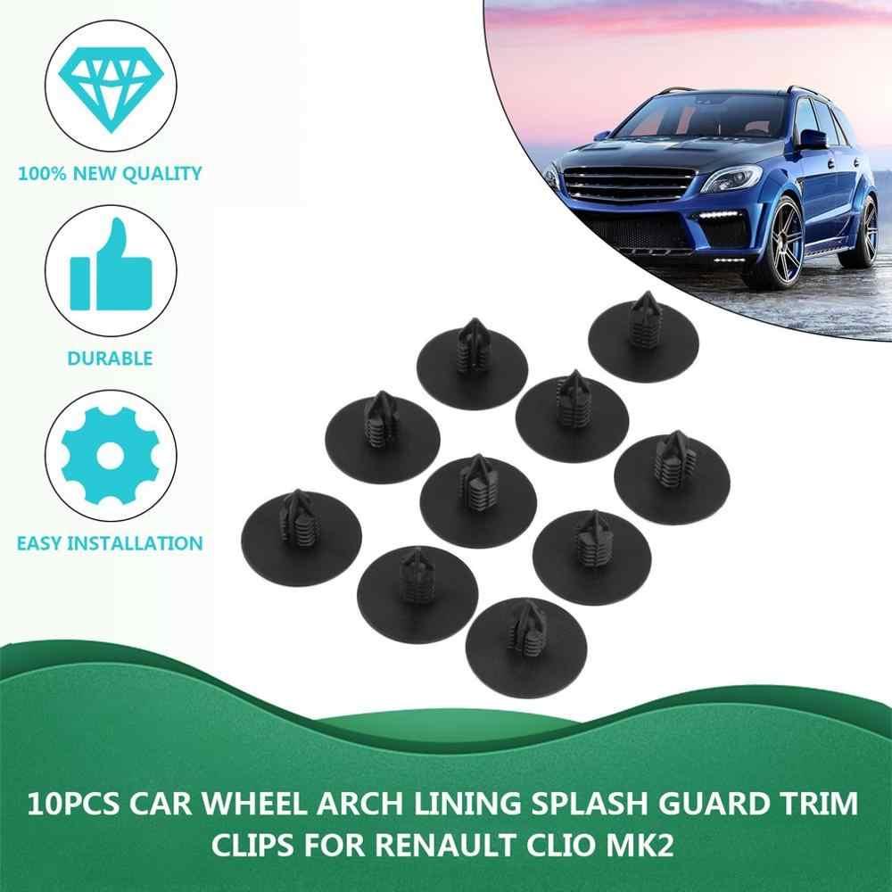 10 adet kapı tampon çamurluk kapağı otomotiv Fastener plastik oto Trim klip perçin oto bağlantı elemanları Toyota için uygun Renault için