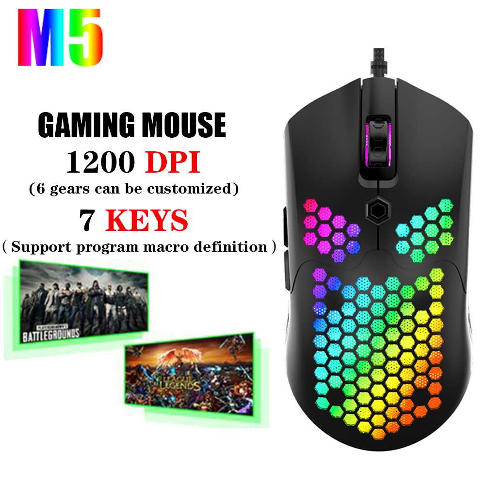 New Super cool Gaming Mouse 12000 DPI 7 buttons RBG Backlit ergonomic design USB Wired Mouse For laptop computer gamer mouse image