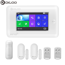 DIGOO DG-HAMA inteligente pantalla táctil versión Alexa 433MHz 2G/GSM/WIFI DIY Smart Home sistema de alarma de seguridad Kits