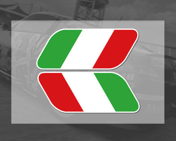 NEW 2pcs Italian Italy Flag Stickers Fender Badge Emblems Decal Decor motorcycle car styling For Ferrari Fiat VW Golf skoda image