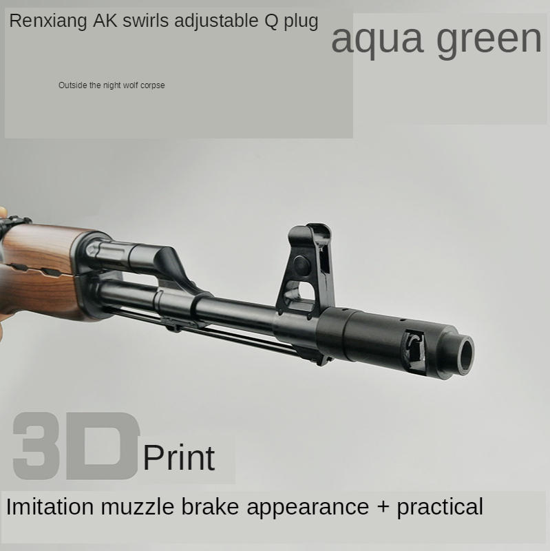 to Shoot a Gun Modified Accessories Rang Shui Lv Ren Xiang AK47 Adjustable Spin Complex Engraving Back The Outside View 3D Print