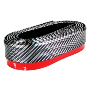 Rubber Band For Car Front Accessories Lip Bumper Universal Soft Carbon Fiber 55mm Width 2.5m Length Strip Sticker Auto Outside