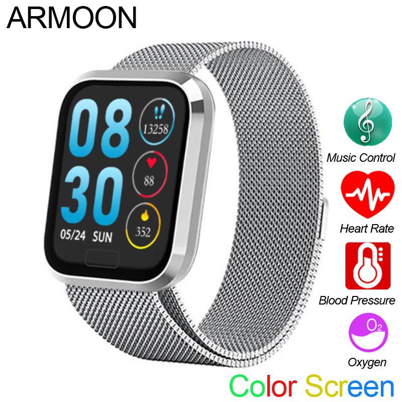 Smart Sports Watch M98 Men Women Heart Rate Blood Pressure Fitness Bracelet Tracker Sleep Monitor Color Music Call Message Band