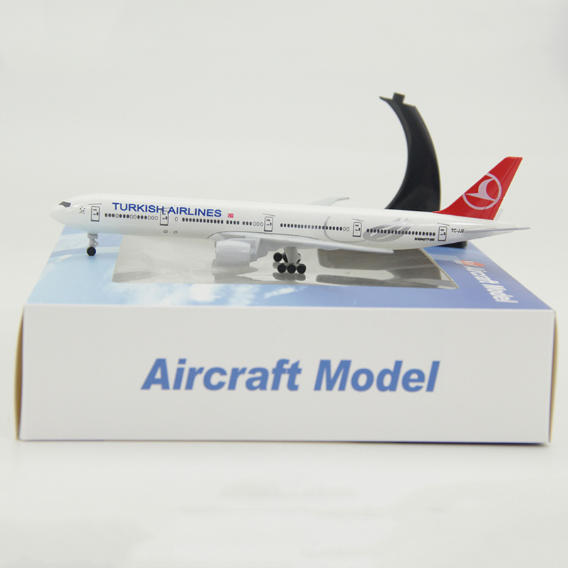 19CM Boeing 777 Turkey TURKISH airlines airplane model aircraft aviation diecast plastic alloy plane toys gifts for kids image