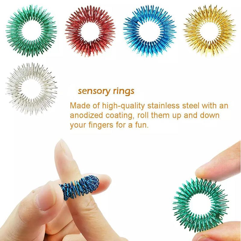 Fidget Toys Anti Stress Stretchy Strings Mesh Marble Relief Sensory Toy Set Gift img5