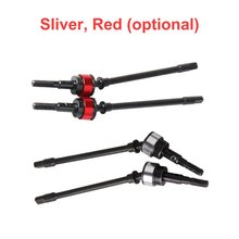 Hot1 Pair Aluminum Alloy RC Steel Front Axle CVD Universal Drive Shaft Dogbone for Axial SCX10 1/10 Crawler Car