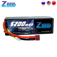 Zeee 5200mAh RC Battery for RC Car 4S RC LiPo Battery LiPo 14.8V 4S 50C with Deans Plug For RC Helicopter Car Boat Truck все цены