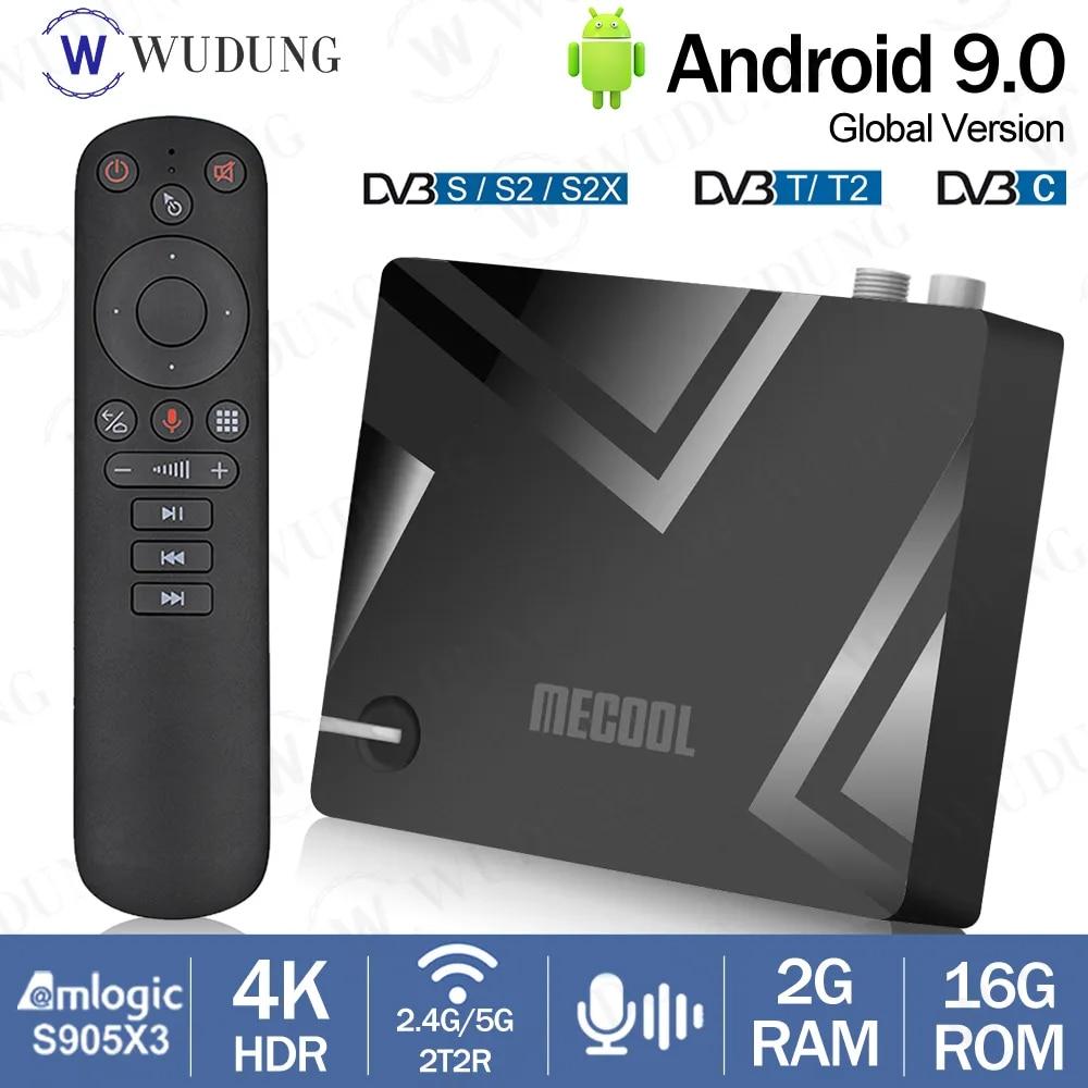 2020 MECOOL K5 Hybrid TV Box Android 9.0 Amlogic S905X3 Quad Core 2GB 16GB  2.4G 5G Dual WIFI Bluetooth DVB S2/T2 Set Top BOX Set-top Boxes