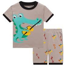 Летние детские пижамы с человеком пауком для мальчиков модель