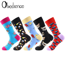 Women Socks Funny Cute Cartoon Fruits cat Egg Cookie Donuts Food Happy Japanese Harajuku skateboard