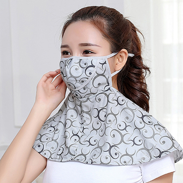 Women Summer Outdoor Breathable Neck UV Protection Shawl Sun-proof Face Mask 3
