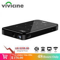 Vivicine 4K Mini Proiettore, Android Bluetooth, batteria 4000 mAh, supporto Miracast Airplay Portatile Mobile di Video Proiettore Beamer