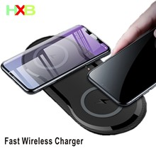 HXB 20w Fast Wireless Charger For Samsung Galaxy S8 S9 S10 Note 10 Wireless Charging Pad For iPhone 11 Pro X XS XR 8 Plus Xiaomi