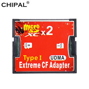 CHIPAL Cf-Card-Adapter Microsd Compact Flash-Type Dual-Slot To TF SDHC I-Converter Extreme