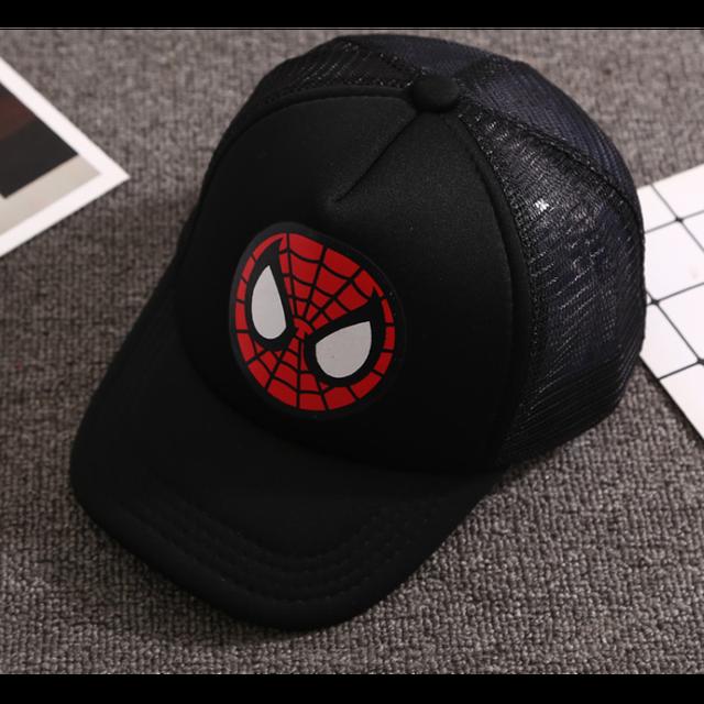 2020New Children Hip Hop Baseball Cap Captain Spiderman Summer kids Sun Hat Boys Girls mesh snapback Caps for 2-9 years old