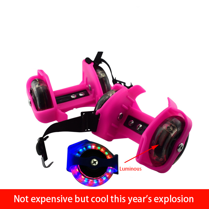 Colorful Flashing Roller Kid Gift Safe Whirlwind Pulley Heel Adjustable Simply Durable Skating Outdoor Home Flash Wheels Shoes