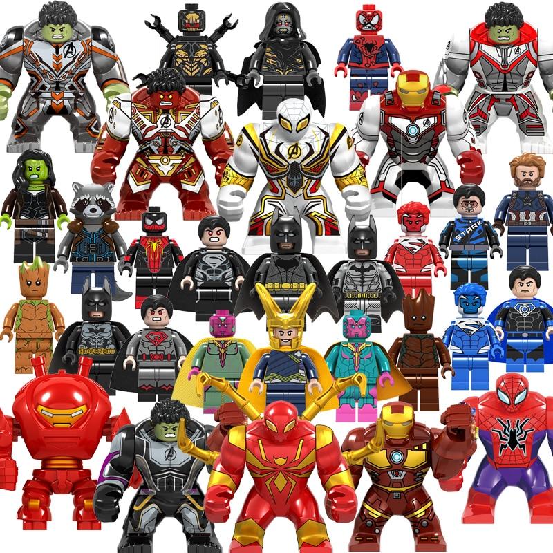 Legoinglys Marvel Super Heroes Infinity War Thanos Avengers Deadpool Hulk Spider Iron Man THOR Mini Building Blocks Toys Figures