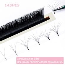 Yelix V Shape Auto-Fans Eyelash Extension Soft Easy Fan Lashes Volume Lash Extension Premium Natural Individual Lashes Mink