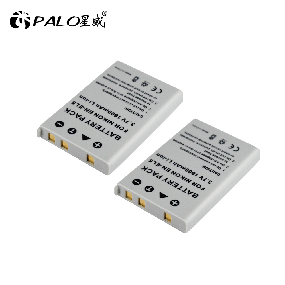 PALO 1600 mAh EN-EL5 EN EL5 ENEL5 Digital camera Battery for Nikon Coolpix P4 P80 P90 P100 P500 P510 P520 P530 p5000 P5100 5200