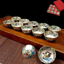 Ceramic Kungfu Teaware 12 Zodiac Golden Chai Travel Cup Gift Decorative Teacup