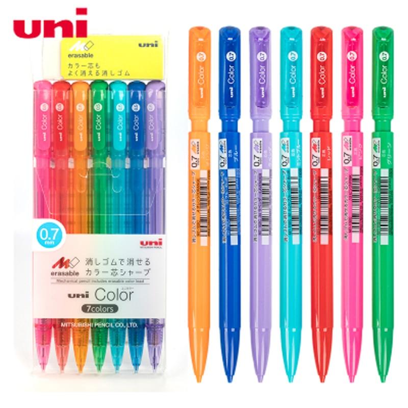 3/7PCS JAPAN UNI New Colour Drawing Activity Pencil M5-102c Colour Pencil Lead 0.5/0.7mm PP Material