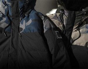 Image 5 - Parka גברים חורף מעילי כותנה Chaquetas Hombre Camo מעיל Mens מזדמן לעבות חם הסוואה אופנה Streetwear בגדים