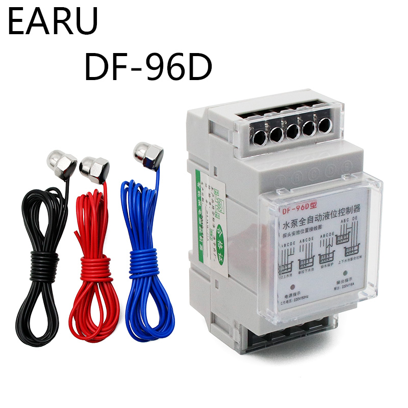 New DF-96D D Automatic Water Level Controller Switch 16A 220V Water Tank Liquid Level Detection Sensor Water Pump Controller