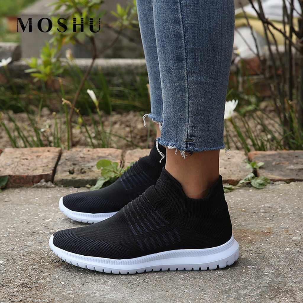 ฤดูใบไม้ผลิรองเท้าผ้าใบสตรี AIR ตาข่ายถุงเท้ารองเท้าผ้าใบรองเท้าสุภาพสตรีรองเท้าแพลตฟอร์มรองเท้าตะกร้า Femme Zapatillas Mujer